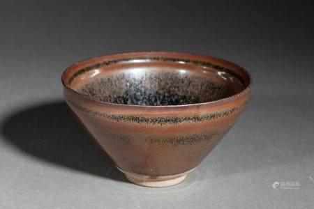 Coupe temoku en fin grès porcelaine