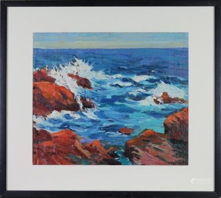 Oil on Canvas, Seascape