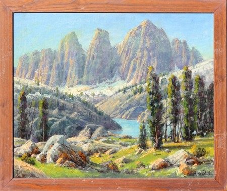 Oil on Canvas, Mt. Whitney