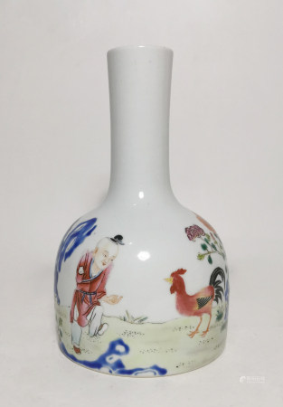 Chinese Famille Rose 'Boy' Vase, Late Qing/Republic