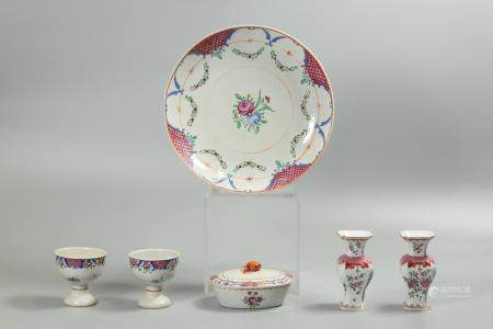 6 Chinese export porcelain wares, possibly 18th/19th c.