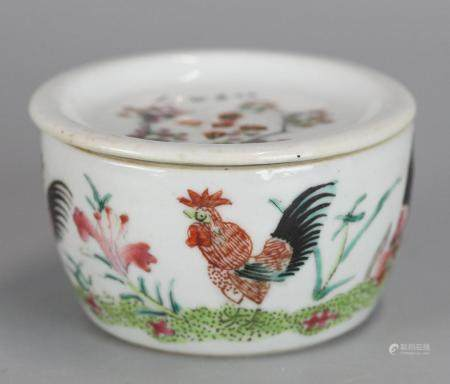 Chinese porcelain cricket box, possibly 19th c.