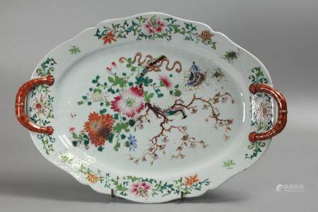 Chinese export porcelain platter, possibly 18th c.
