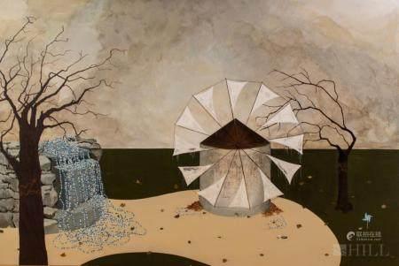 Echo Eggebrecht Abstract Acrylic Painting On Panel
