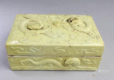 Chinese Antique Glazed Porcelain Box