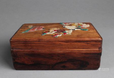 Chinese Carved Hardwood Box