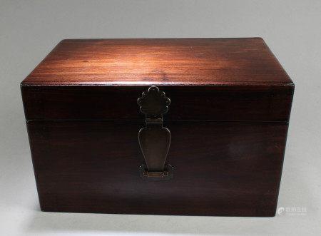 Antique Chinese HuangHuaLi Rectangular  Box, 18th C