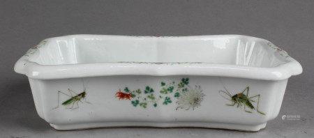 Chinese Rectangular Shaped Porcelain Ink Washer