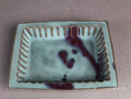 Chinese Porcelain Rectangular Pot