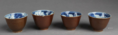 A Group of Four Chinese Antique Porcelain Cups