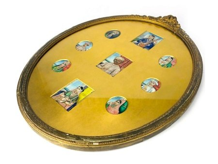 A GROUP OF INDIAN PAINTED PORTRAIT MINIATURES