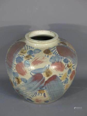 ACKERMANN. Vase rond à petit col
