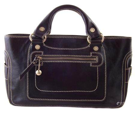 A Celine brown leather Boogie Handbag,