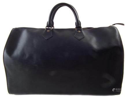 A Louis Vuitton black Epi Speedy 40 handbag,