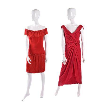 Two designer dresses,