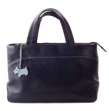 A black leather Radley bag,