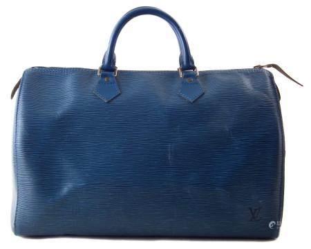 A Louis Vuitton blue Epi Speedy 35 handbag,