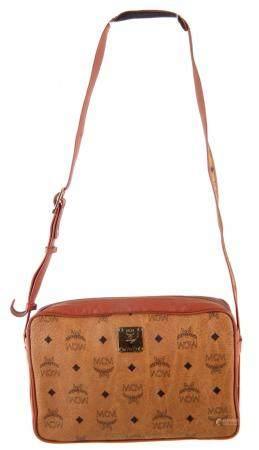 An MCM Monogram Shoulder Bag,