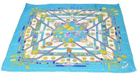 """A Hermes """"Petite Main"""" silk scarf by Cathy Latham,"""