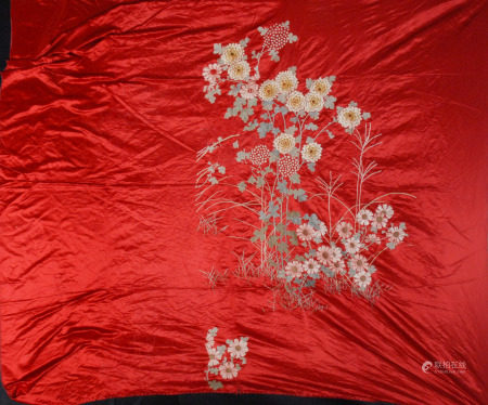 花卉紋刺繡