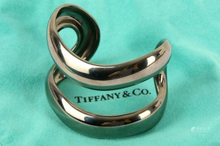 A blackened silver cuff, by Elsa Peretti for Tiffany & Co.