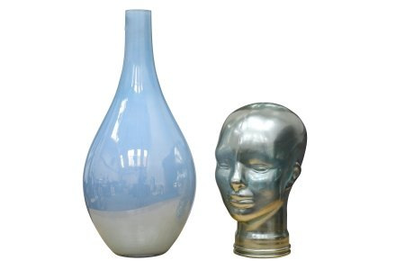 Art Glass Vase and Bust