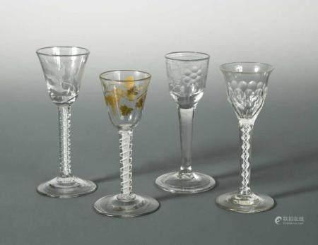 A George III air twist wine glass,
