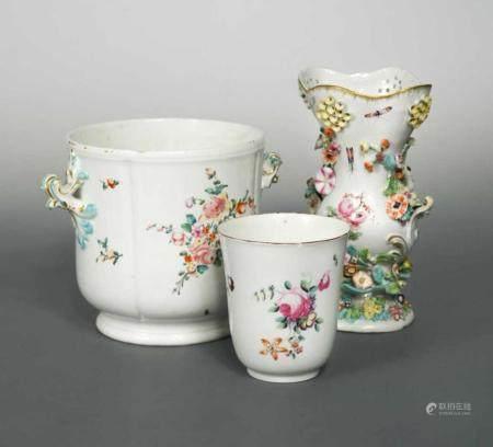 An 18th century Derby vase, circa 1770,