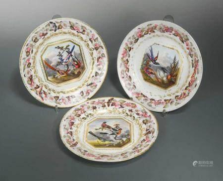 A set of seven Derby plates, circa 1805
