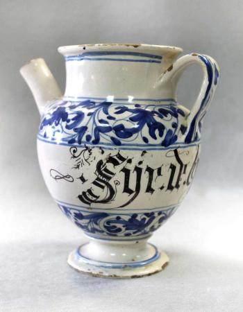 An 18th century Savona Syrup jar,