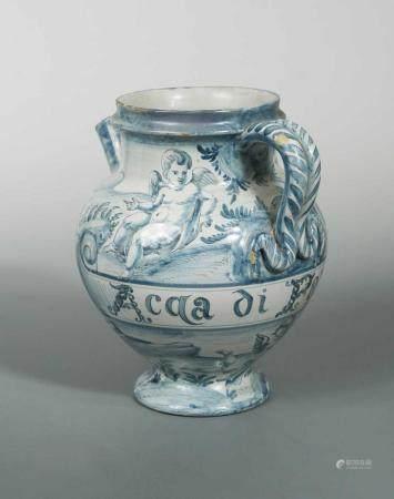 An Italian Cantagalli drug jar,