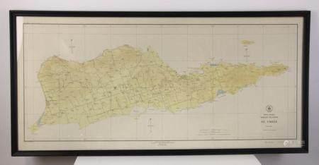 Map of West Indies, St Croix, Virgin Islands
