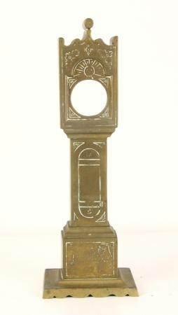 English Brass Grandfather Clock