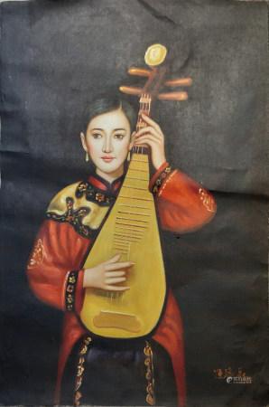 陳逸樂油畫人物