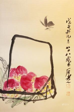 齊白石壽桃