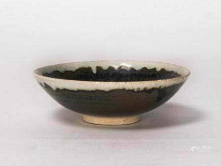 宋代-吉州窯白覆輪碗