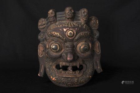 西藏大黑天面具