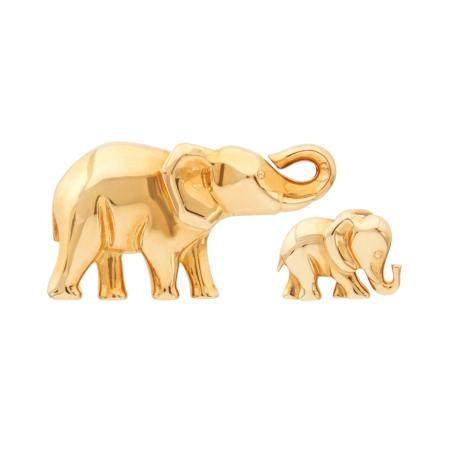 Cartier Gold Elephant Pendant and Pin, France