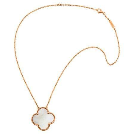 Van Cleef & Arpels Gold and Mother-of-Pearl 'Alhambra' Penda