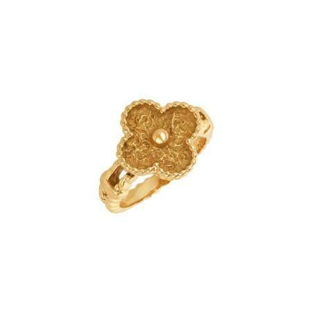 Van Cleef & Arpels Gold 'Alhambra' Ring
