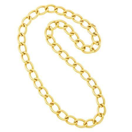 Shreve & Co. Gold Link Necklace