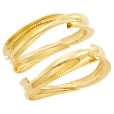 Tiffany & Co., Frank Gehry Pair of Gold 'Fish' Bangle Bracel