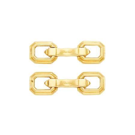 Cartier Pair of Gold Cufflinks
