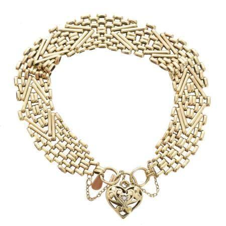 A 9ct gold diamond bracelet,