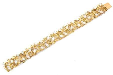 An opal bracelet,