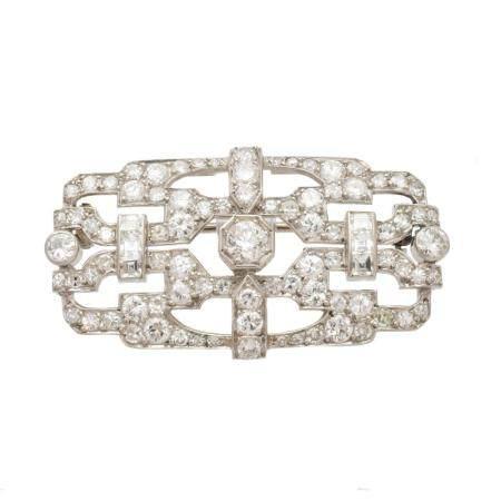 A diamond plaque brooch,