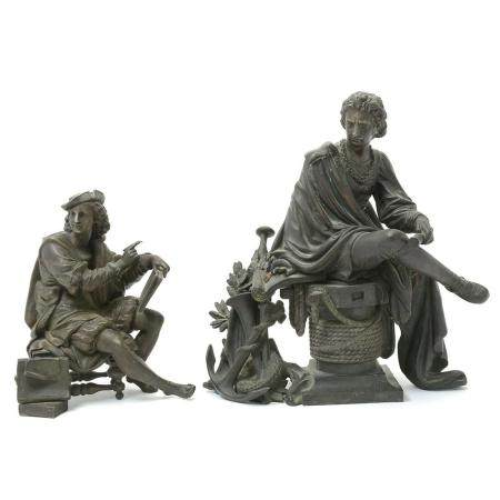 Two Decorative Spelter Figures.