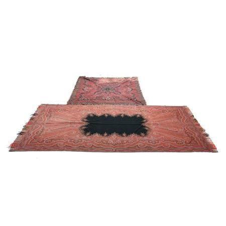 Two 19th Century Kashmiri Woven Textiles.