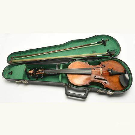 Oskar Bernhard Heinel Labeled Violin with Two Bows.