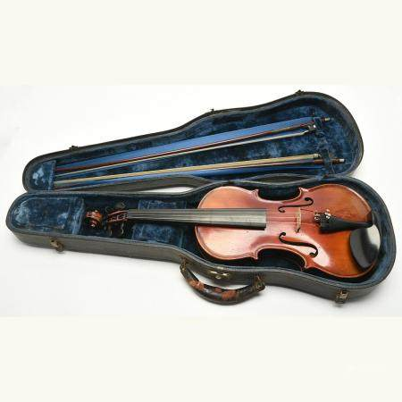 André Coinus Labeled Violin with Two Bows.